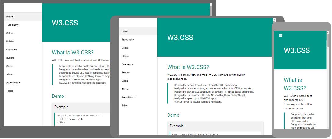 آموزش فریم ورک W3.CSS